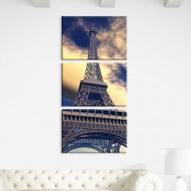 Kit 3 Telas Canvas Tarde em Paris França