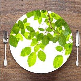 Sousplat Galho com Folhas Verde