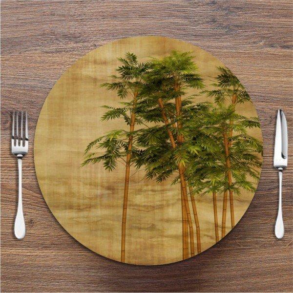 Sousplat Bambu Folhas