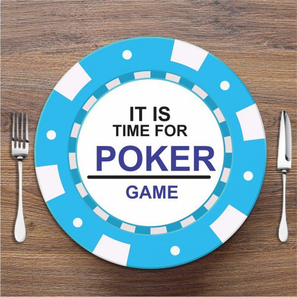 Sousplat Poker Azul Claro