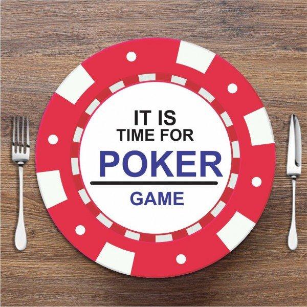 Sousplat Poker Vermelho