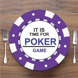 Sousplat Poker Roxo