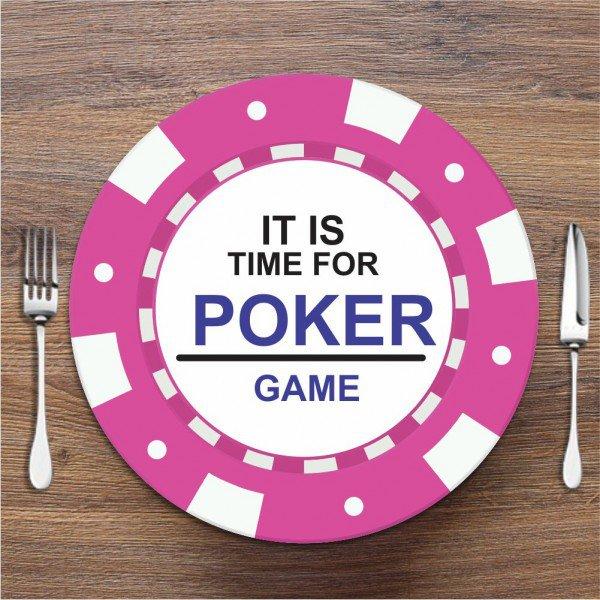 Sousplat Poker Rosa