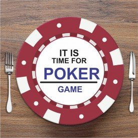 Sousplat Poker Bordo