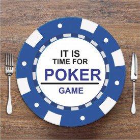 Sousplat Poker Azul