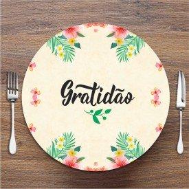 Sousplat Gratidão