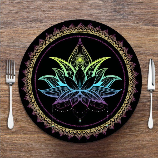 Sousplat Flor de Lotus