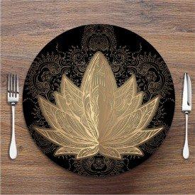 Sousplat Flor de Lotus Dourada