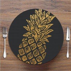 Sousplat Abacaxi Dourado