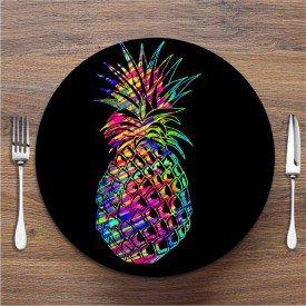 Sousplat Abacaxi Colorido