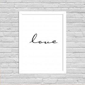 Quadro Decorativo Minimalista Soft Love Branco