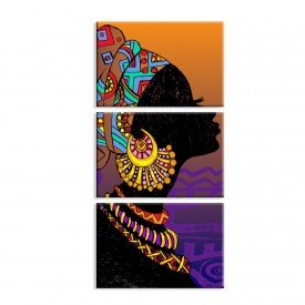 Kit 3 Telas Canvas Africa in Colour
