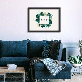 Quadro Decorativo Green Vibes Only Branco