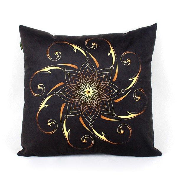 Almofada Ouro Infinito Mandala Dourado