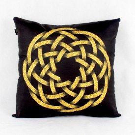 Almofada Ouro Dourado Circular Infinito