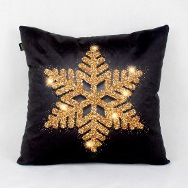 Almofada Ouro Floco de Neve Dourado