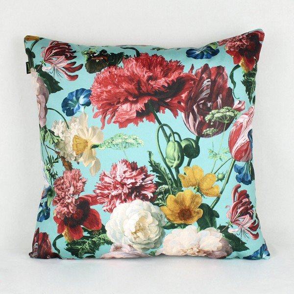 Almofada Topazio Floral Azul Piscina