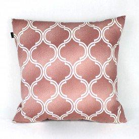 Almofada Agata Circulos Branco Rosa