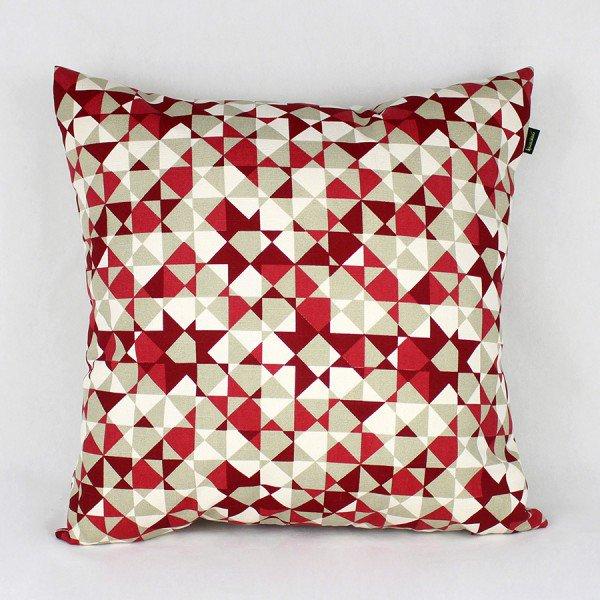 Almofada Agata Triangular Vermelho e Bege