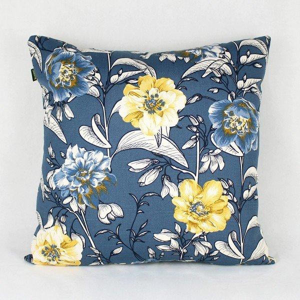 Almofada Agata Floral Tons de Azul