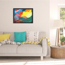 Quadro Decorativo Abstrato Moderno Colour Preto