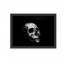 Quadro Decorativo Dark Skull Preto