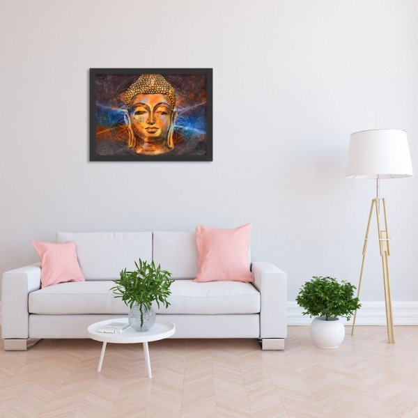 Quadro Decorativo Energias Positivas Buda Preto