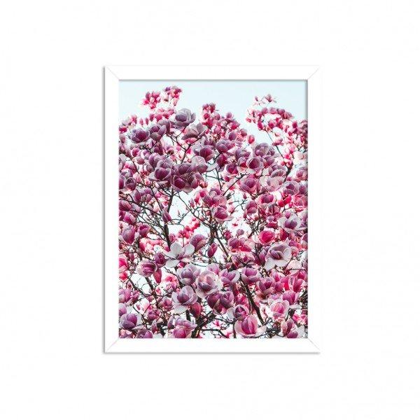 Quadro Decorativo Flores de Primavera Branco