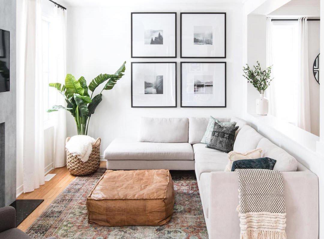 sala de estar pequena estilo prego e martelo
