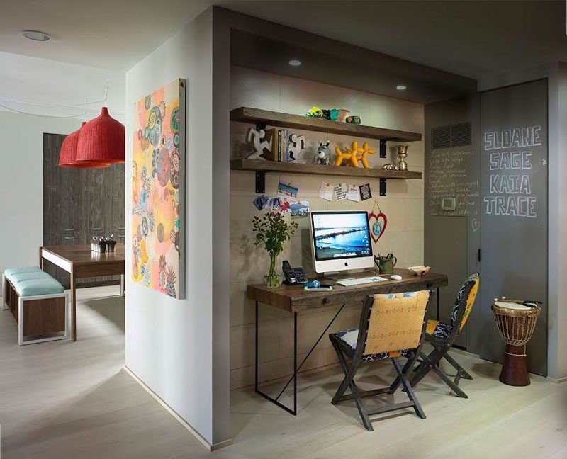 home office estilo prego e martelo