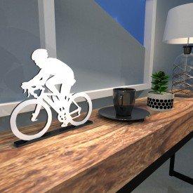 Escultura de Mesa Adorno Bike Outdoor Branco