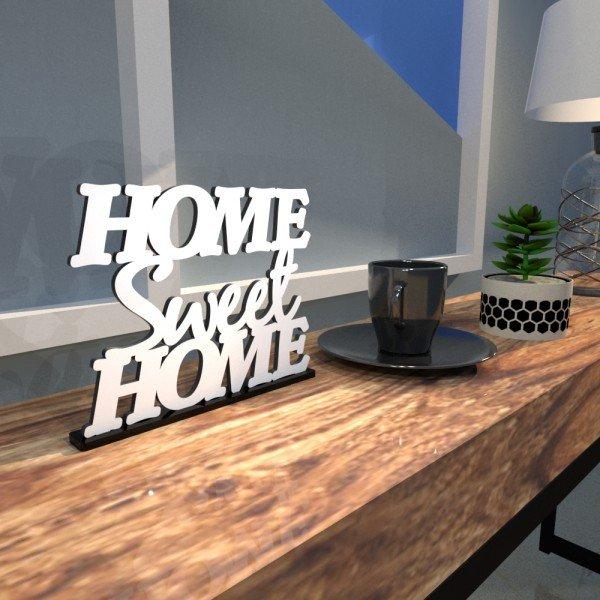 Esculturas de Mesa Home Sweet Home Branco