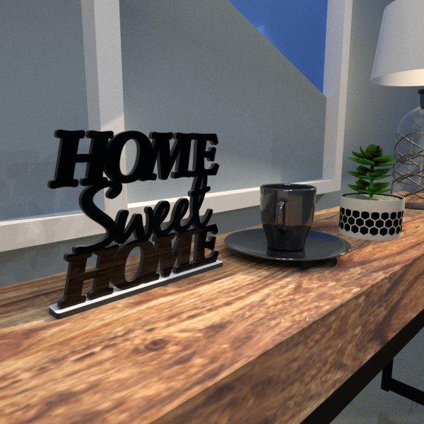 Esculturas de Mesa Home Sweet Home Preto