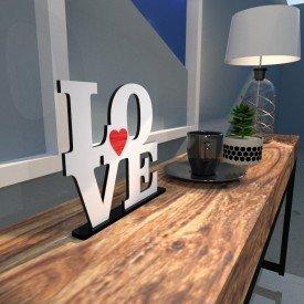 Escultura de Mesa Love Coração Branco