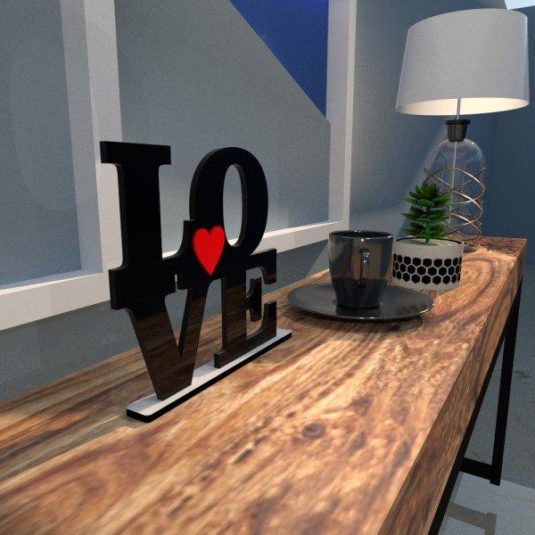 Escultura de Mesa Love Coração