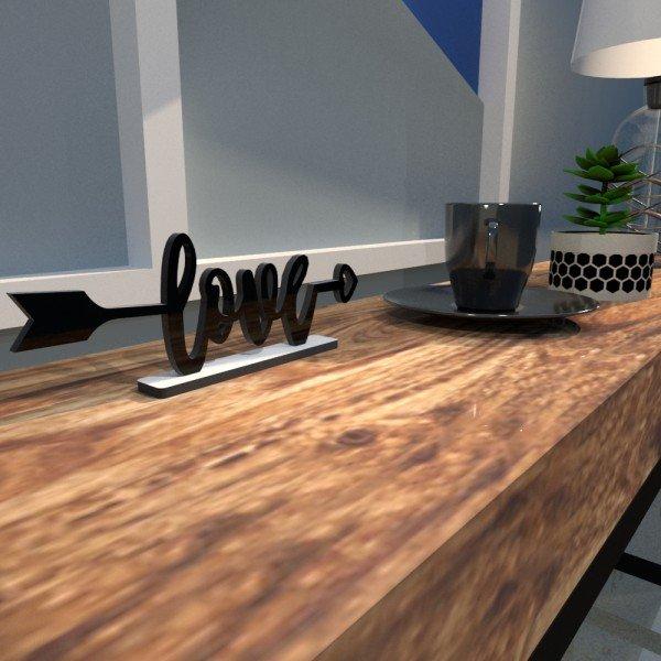 Escultura de Mesa Love Flecha Preto