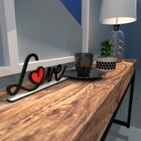 Escultura de Mesa Love Drawing Preto