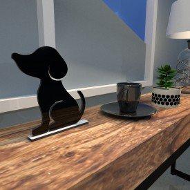 Escultura de Mesa Adorno Preto Cachorro Melhor Amigo