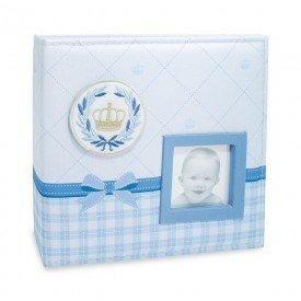 ALB810 lbum Beb Tecido Azul Menino 200 Fotos 10X15