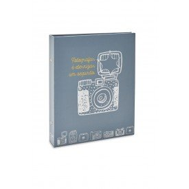 ALB946 lbum Photo Lovers Rebites Cmera Cinza 160 Fotos 10X15