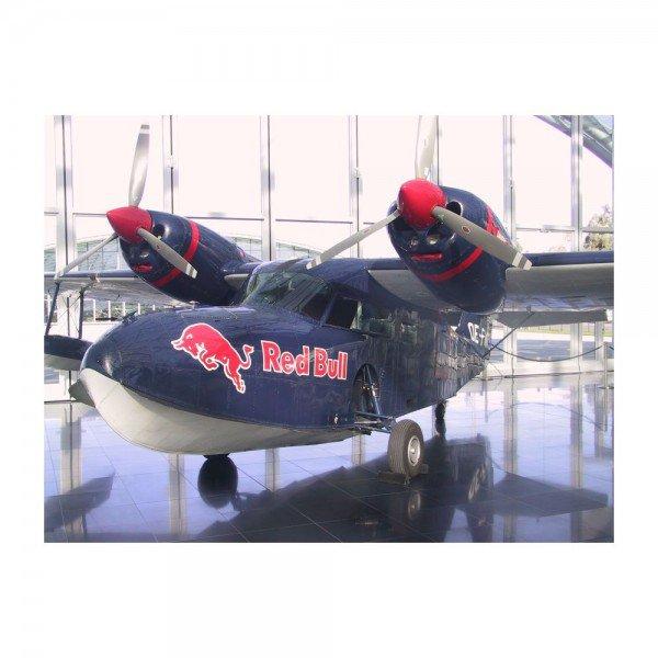 Placa Decorativa em MDF Avião Redbull