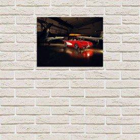 Placa Decorativa em MDF Carro de Luxo em Hangar