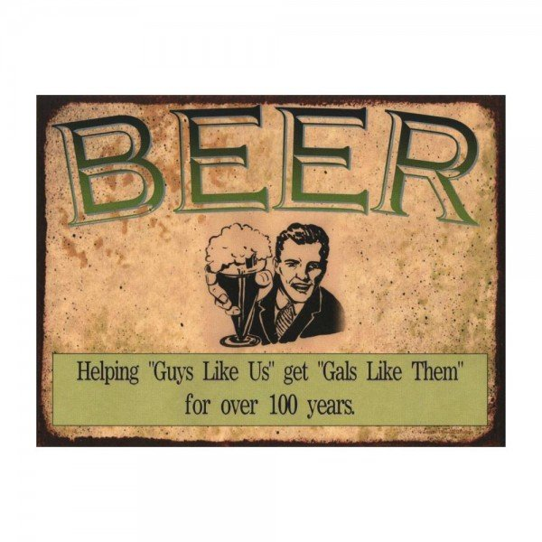 Placa Decorativa em MDF Beer Cerveja Antigo Oldschool