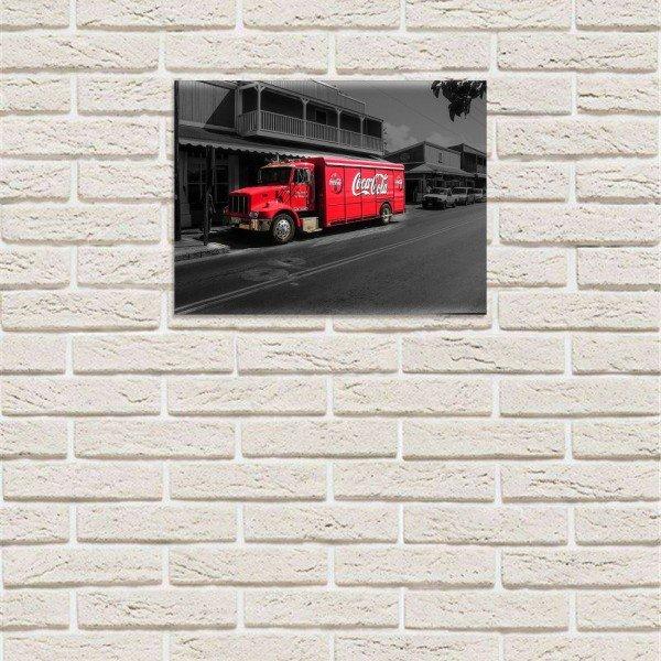 Placa Decorativa em MDF Caminhão Coca Cola Entrega