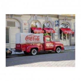 Placa Decorativa em MDF Caminhão de Entrega Antigo Coca Cola