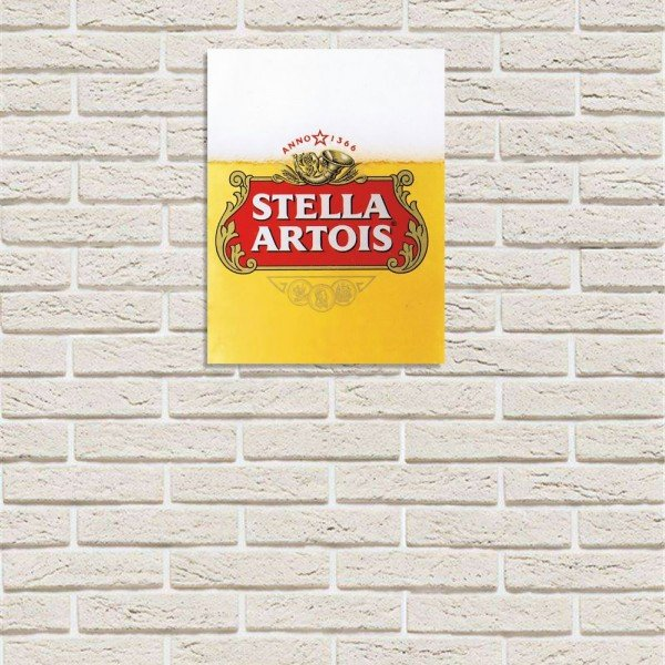 Placa Decorativa em MDF Cerveja Stella Artois