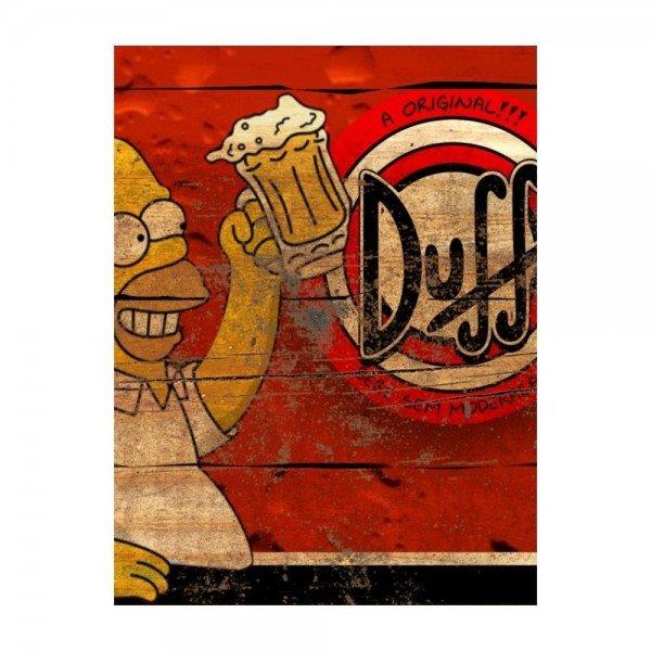 Placa Decorativa em MDF Cerveja Propaganda Duff Os Simpsons Madeira
