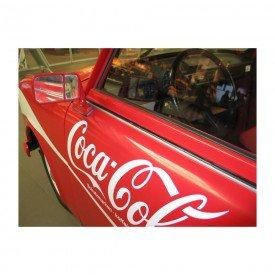 Placa Decorativa em MDF Carro Antigo Coca Cola