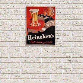 Placa Decorativa em MDF Cerveja Heineken's Cartoon