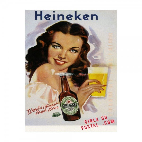 Placa Decorativa em MDF Cerveja Vintage Heineken Oldschool